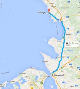 Karta Helsingborg-Särdal