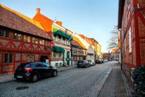 Korsvirkeshus i Halmstad
